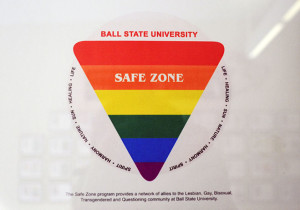 The Safezone program provides a network of allies to the Lesbian, Gay, Bisexual, Transgendered and Questioning community at Ball State University.