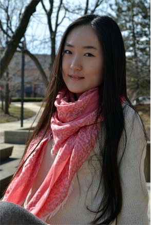 Chao Wong has been in America for four years as she double majors in painting and advertising. Instead of returning to China after graduating, she plans on finding a job in America.