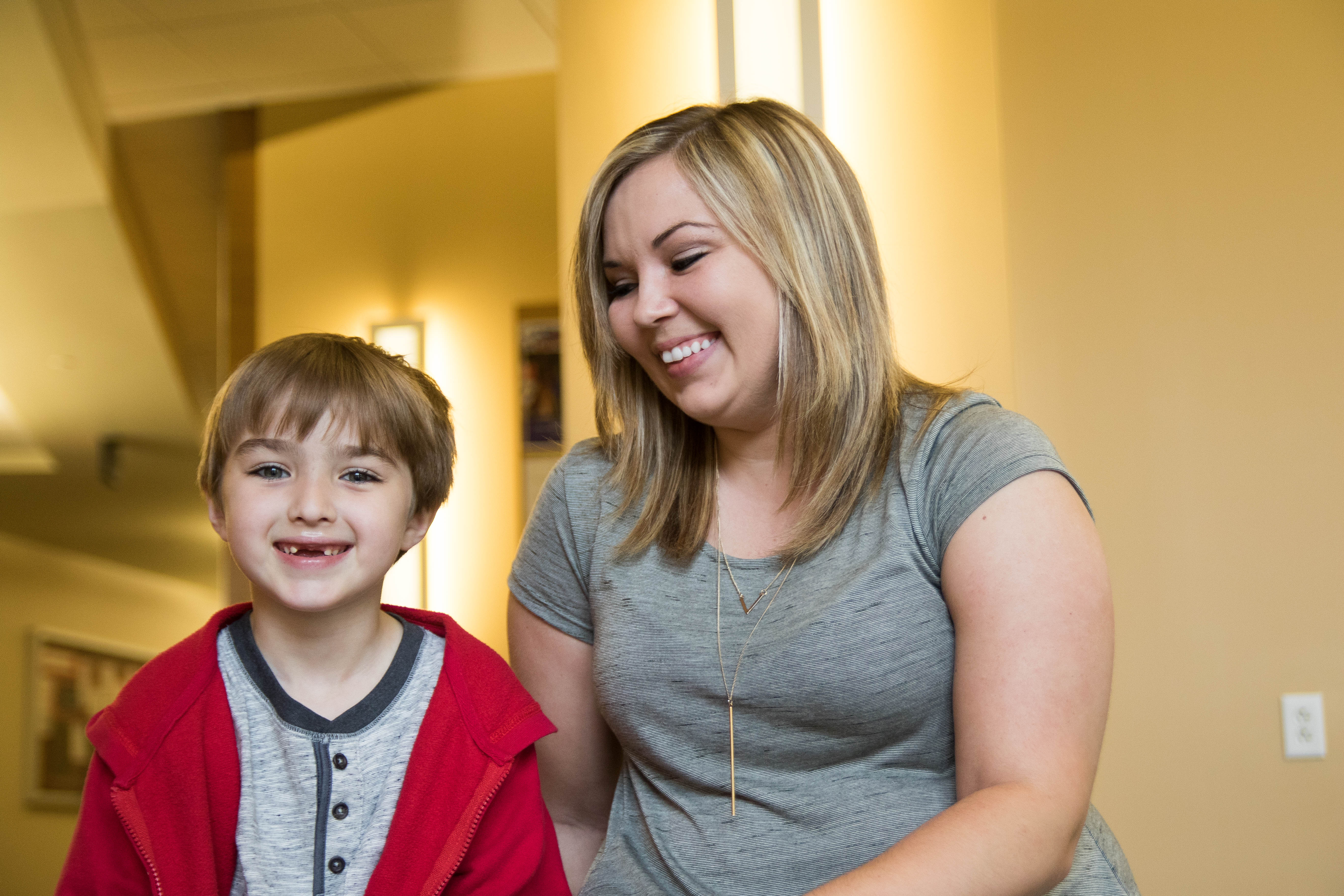 Sarah Loyd attends Ball State while raising her son, Kizer.