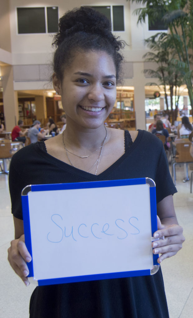 """A lot of people come here looking for success to fulfill their dreams and to get jobs and become successful."" Lexi Belmontes, freshman"